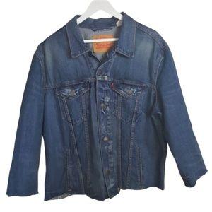 Levi's denim distressed oversized jeans jacket XXL